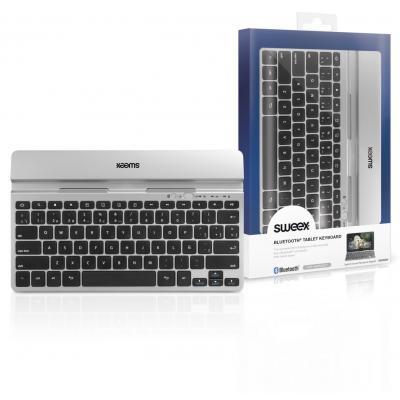 Sweex mobile device keyboard: Bluetooth Tablet Toetsenbord Spaans - Zilver