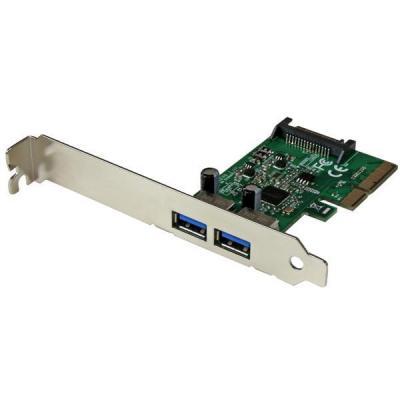 Startech.com interfaceadapter: 2 poorts USB 3.1 Gen 2 (10Gbps) PCI Express kaart PCIe met 2x USB-A - Groen, .....
