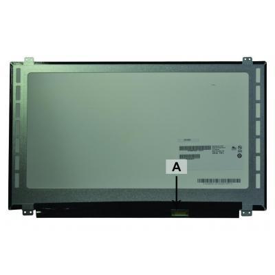 "2-power notebook reserve-onderdeel: 39.624 cm (15.6 "") 1920x1080 Full HD LED Glossy - Zwart"