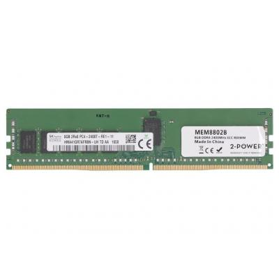 2-power 8GB DDR4 2400MHz ECC RDIMM (1Rx4) Memory - replaces KTH-PL424S8/8G RAM-geheugen