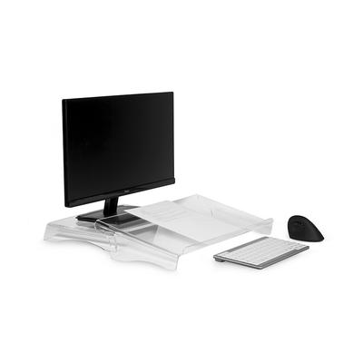 BakkerElkhuizen Q-riser 50, 1.1 kg Monitorarm - Transparant