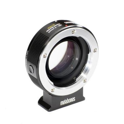 Metabones lens adapter: Minolta MD to Fuji X Speed Booster ULTRA, 5 Elements / 4 Groups, 0.71x - Zwart