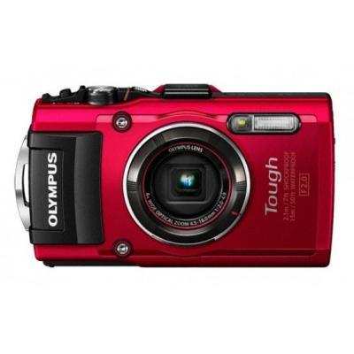 Olympus digitale camera: STYLUS TG-4 - Rood