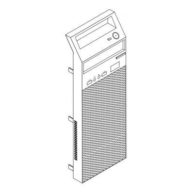 Lenovo 04X2360 Front Panel Assembly Computerkast onderdeel - Zwart