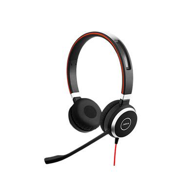 Jabra headset: Evolve 40 MS Stereo - Zwart