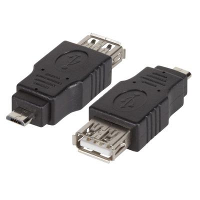 EFB Elektronik USB2.0-Adapter, Jack A - Micro-B Plug, black Kabel adapter - Zwart