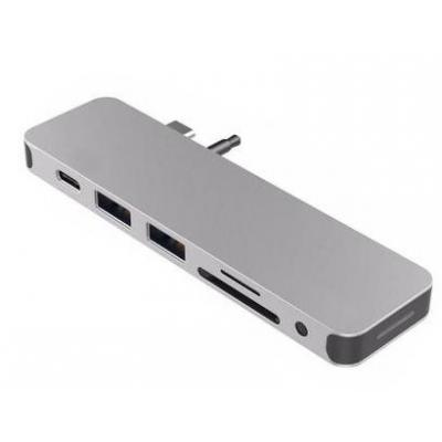 HYPER hub: HyperDrive SOLO USB-C HUB Silver - Zilver