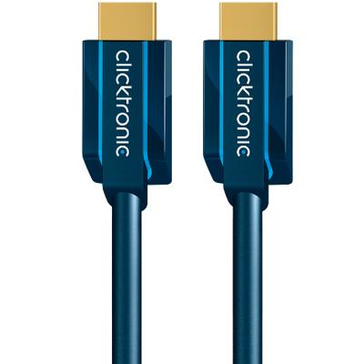 ClickTronic 20m High Speed HDMI HDMI kabel - Blauw