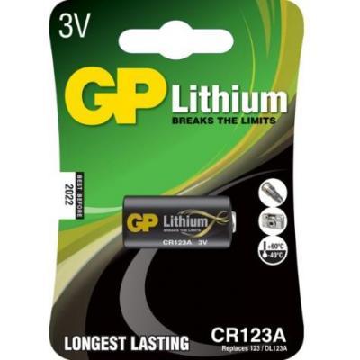 GP Batteries Lithium CR123A batterij - Zwart