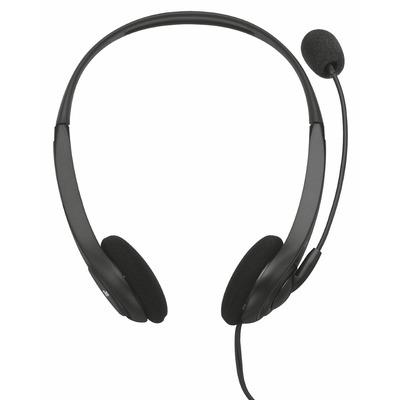 Trust 70-20000Hz, 108dB, 32Ohm, 30-16.000Hz, -34dB, 2.2kOhm, 1.8m, 60g headset - Zwart