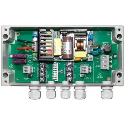 Raytec PSU-VAR-50W-2 power adapter/inverter, Powers 2x VARIO 4 series illuminators, Max Output: 50W Netvoeding - .....