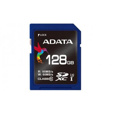 Adata flashgeheugen: Premier Pro SDXC - Zwart, Blauw