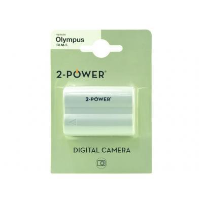 2-power batterij: Digital Camera Battery, Li-Ion, 7.4V, 1200mAh, Grey - Grijs