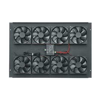 Middle Atlantic Products : Fan Top, 552 CFM, 220 V, 38 dB, Steel, w/ Controller