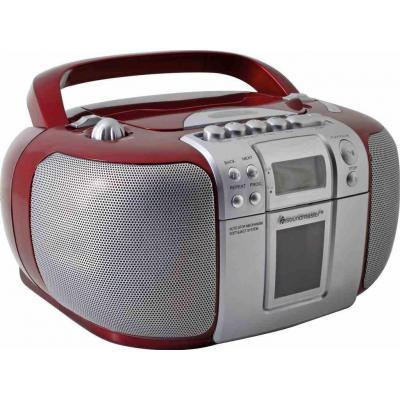 Soundmaster CD-radio: SCD5406RO - Rood, Zilver