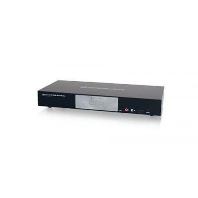 Iogear 2-Port Dual-Link DVI Secure KVM switch - Zwart