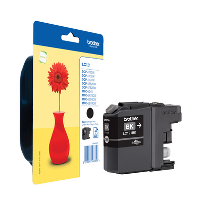 Brother inktcartridge: LC-121BK Inktcartridge Zwart