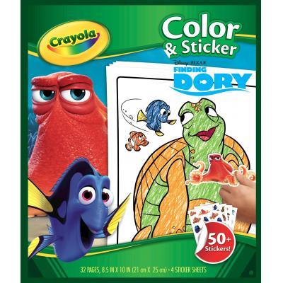 Crayola kleurplaat en boek: Kleur en sticker boek Finding Dory