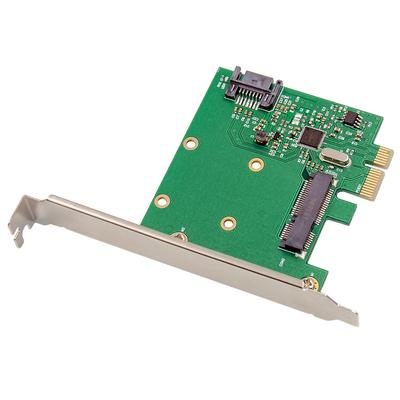 ProXtend PCIe SATA III 6G mSATA NGFF Card Interfaceadapter - Zilver,Groen