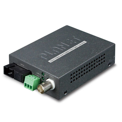 PLANET 1-Channel 4-in-1 Video over Gigabit Fiber Bundle Kit (VF-106G-T + VF-106G-R) Media converter - Zwart