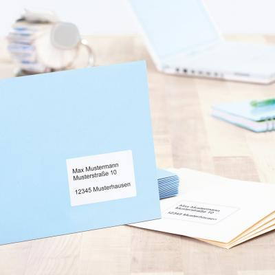 Herma adreslabel: Adress labels A4 99.1x67.7 mm natural-white recycled paper matt blue angel 800 pcs. - Wit