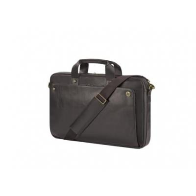 Hp laptoptas: Executive Brown Leather Top Load, 17.3''  - Bruin