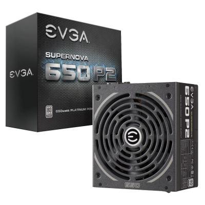 EVGA SuperNOVA 650 P2 Power supply unit - Zwart