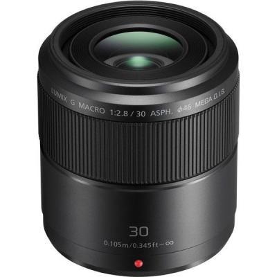 Panasonic camera lens: Lumix G Macro 30mm / F2.8 ASPH. / MEGA O.I.S. - Zwart