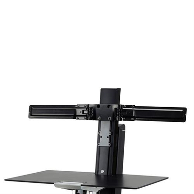 Ergotron Dual Monitor Double-Hinged Bow Monitorarm - Zwart