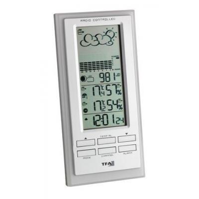 Tfa weerstation: Faktum, 4 x AA, 449g - Zilver