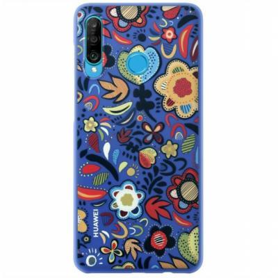 Huawei TPU Case Flower Blue Mobile phone case - Multi kleuren