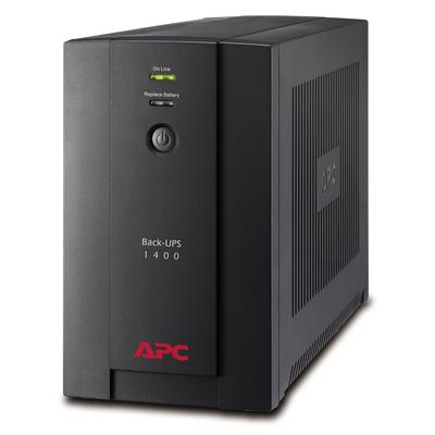 APC Back-UPS 1400VA noodstroomvoeding 6x C13, USB UPS - Zwart