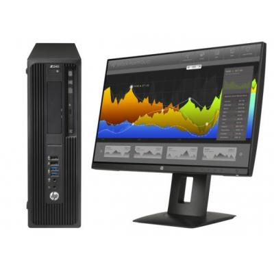Hp pc: Z Workstation bundel: Z240 SFF 4Core + Z24nf monitor  - Zwart