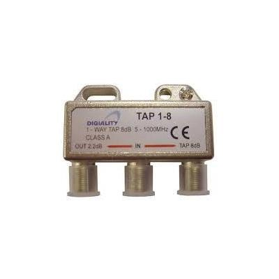 Digiality kabel splitter of combiner: Antenna 1-Way Tap 8 dB split 5-1000 MHz