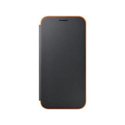 Samsung mobile phone case: Galaxy A3 2017 Neon Flip Wallet Cover - Black - Zwart