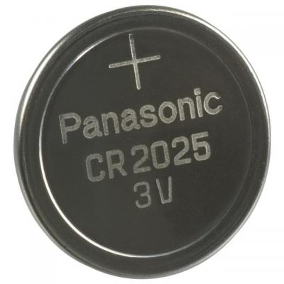 Panasonic batterij: CR2025 - Lithium Coin cell, 165 mAh, 3V - Roestvrijstaal