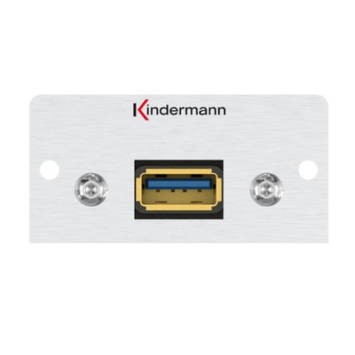 Kindermann 7444000828 Wandcontactdoos - Aluminium
