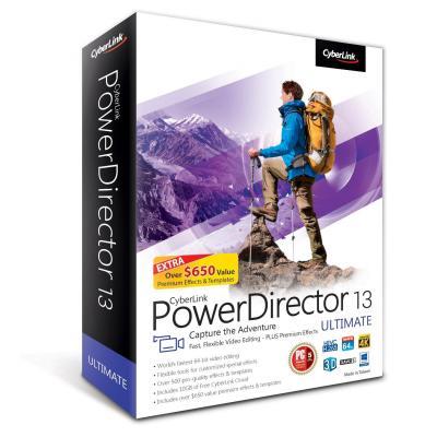 Cyberlink grafische software: PowerDirector 13 Ultimate