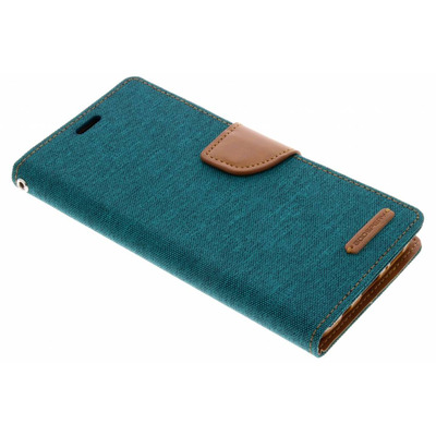 Canvas Diary Booktype Samsung Galaxy S9 Plus - Groen / Green Mobile phone case