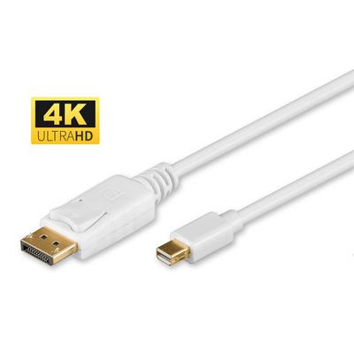 Microconnect Mini Displayport - Displayport, 1m, M-M - Wit