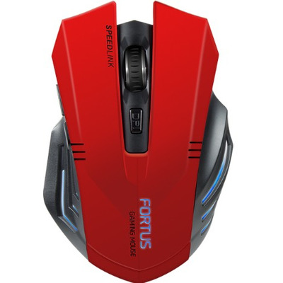 Speed-Link Fortus Computermuis - Black, Rood