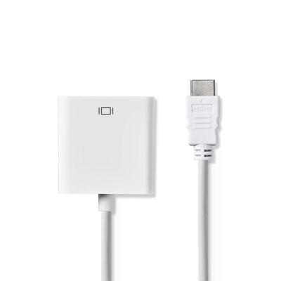 Nedis HDMI™ - VGA-kabel, HDMI™-connector - VGA female + 3,5 mm uitgang, 0,2 m, Wit