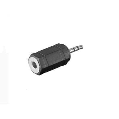 Microconnect 2.5mm - 3.5mm, M-F Kabel adapter - Zwart