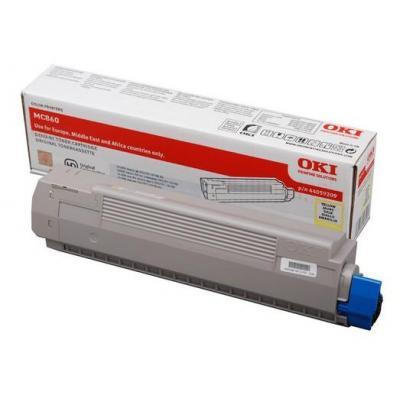 OKI cartridge: Yellow Toner f/ MC860 - Geel