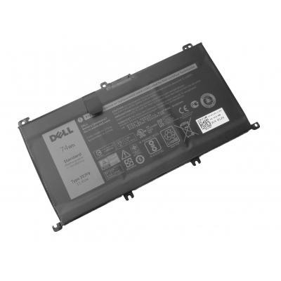 Dell batterij: 74Wh, 6-cell, Li-Ion, 11.4V, 6400mAh, Inspiron 7559/7567 - Zwart