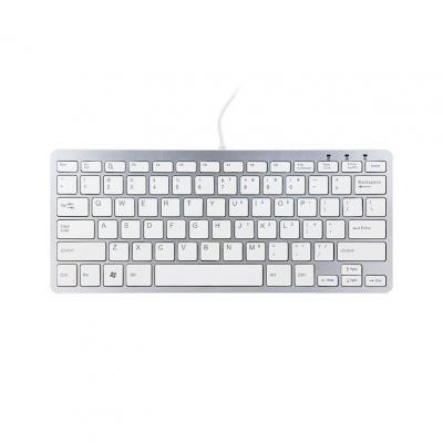 R-go tools toetsenbord: Compact Toetsenbord,  (NORDIC), wit, Bedraad - QWERTY