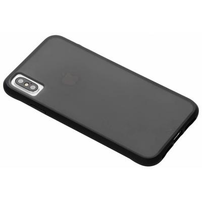 Tough Backcover iPhone Xs Max - Zwart / Black Mobile phone case