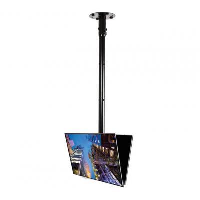 B-tech flat panel plafond steun: BT5812-150 - Zwart