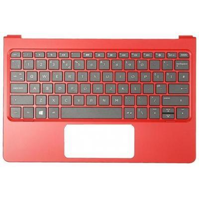 Hp notebook reserve-onderdeel: Top Cover & Keyboard (Portugal) - Rood, Zwart