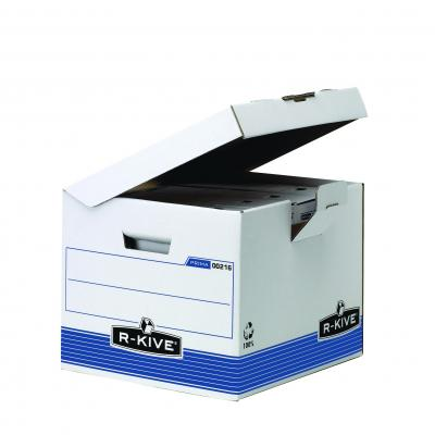 Fellowes archiefdoos: Prima flip top kubus - blauw - Blauw, Wit